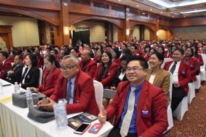 """15 มีนาคม 2561 ภาพบรรยากาศงานประชุมสัมมนาทางวิชาการ เรื่อง """"การเรียนรู้ตามรอยพระยุคลบาท เพื่อเป็นข้าราชการที่ดี และพลังของแผ่นดิน"""" และประชุมใหญ่สามัญประจำปี 2560 (ครั้งที่ 47)"""
